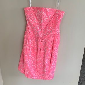 Neon pink Lilly Pulitzer Smocked Dress